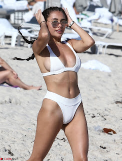 Madison  Enjoying Valentines Day with Her Boy friend on Beach in White Bikini Spicy Pics (23).jpg
