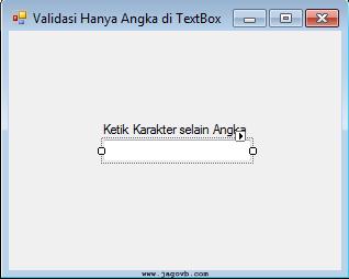Cara Membuat Validasi Input Angka dalam TextBox di VB.NET