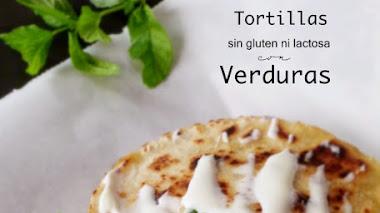 Tortillas de maíz o quesadillas sin gluten rellenas de verdura