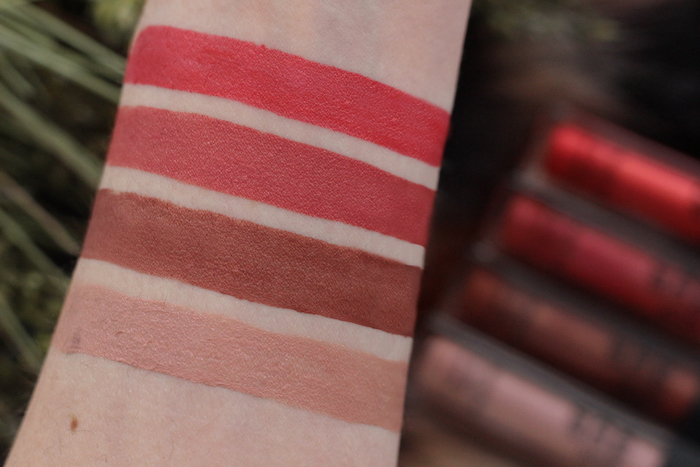 Makeup Factory pearly mat lip fluid swatch