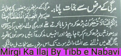 Mirgi ka tibb e nabvi se ilaj_mirgi treatment in quraan
