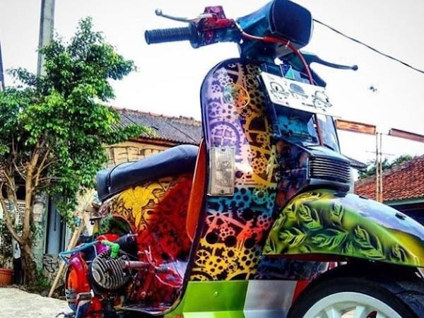 Dari Mural ke Vespa, Kreatifnya Vespa Paint Art Jadi Pemenang Kompetisi Asli Jago XL Business Solutions