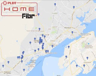 PLDT Home Fibr List of Areas and Coverage in Cebu City