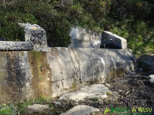 Fuente bajo la Canal de las Cuevas de Peña Mea