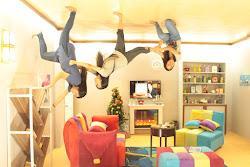 upside down living museum cebu gravity turn screen tv