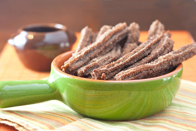 massa de churros chocolate
