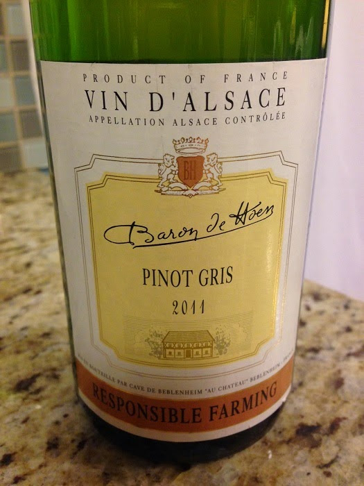 Midwest Wine Guy:  Truly Honest Wine Reviews and Education for the Wine Lover in Everyone!: 2011 Baron de Hoen Cave de Beblenheim Pinot Gris