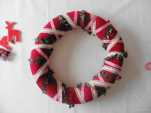 hacer una corona de navidad en casa