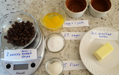 Ingredients for Chocolate Molten Lava Cakes