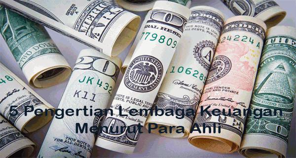 Pengertian Lembaga Keuangan Menurut Para Ahli