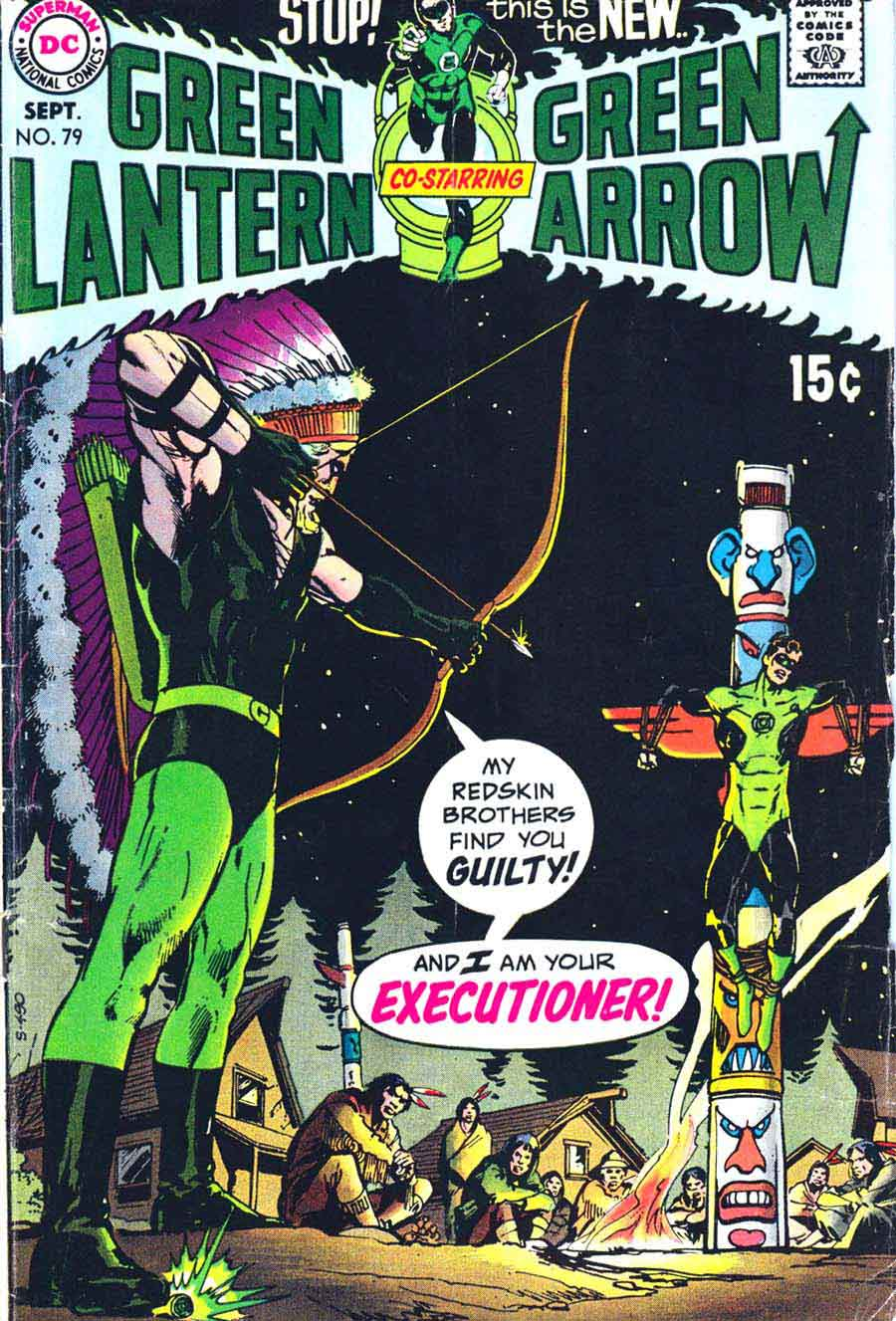Green Lantern Green Arrow #79 dc comic book cover art by Neal Adams