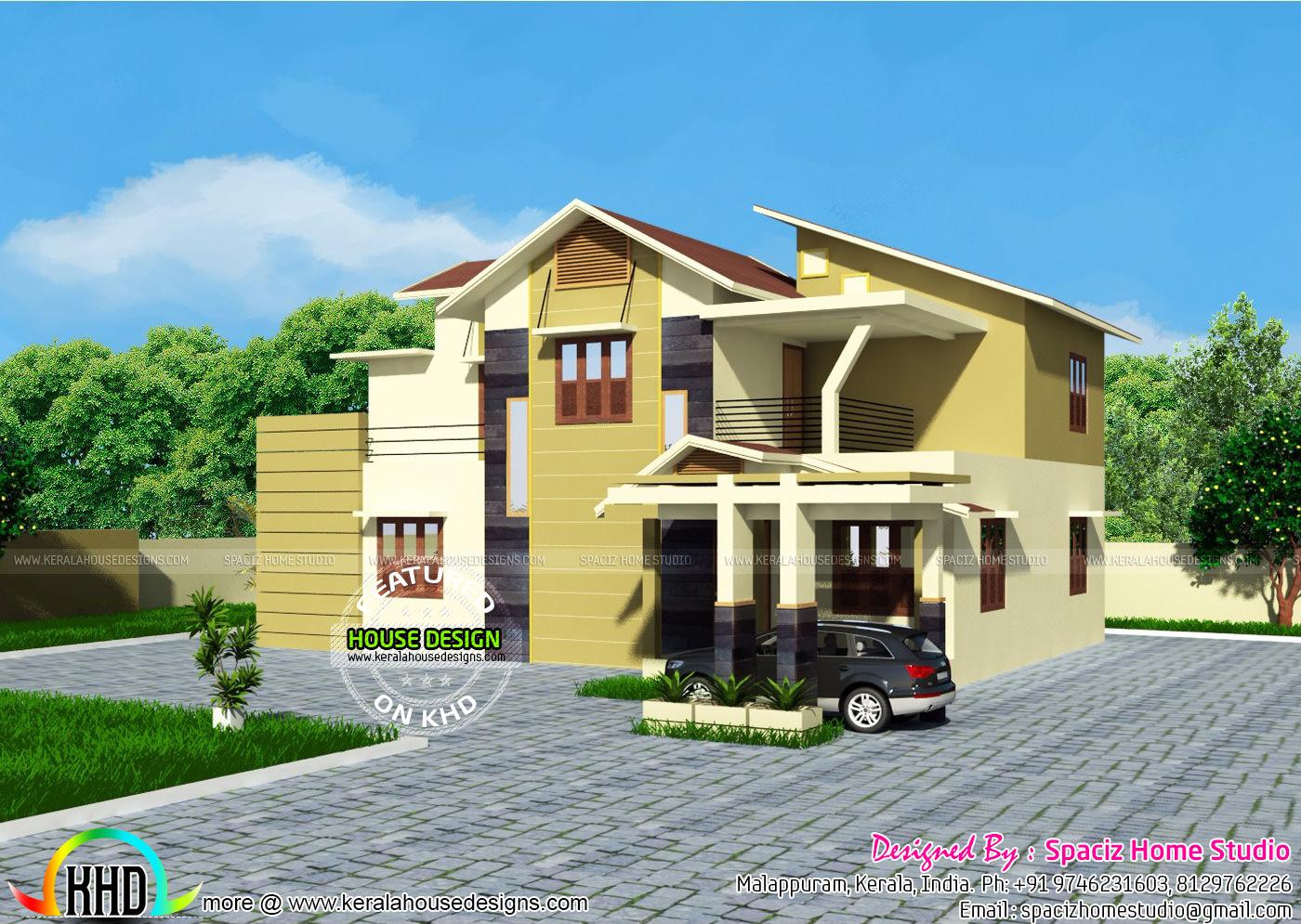 200 sqm modern house plan kerala home design and floor plans