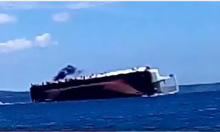 Kapal Rafelia 2 tenggelam di Selat Bali.