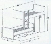 Planos e medidas para beliches, camas de casal ou beliches para crianças