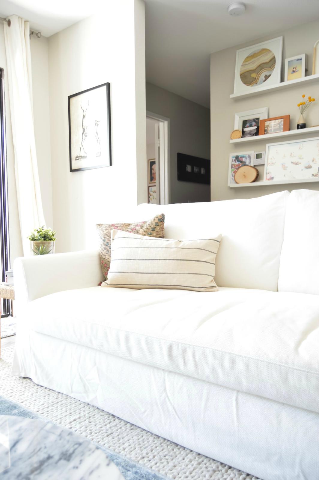 #sofa #ikea #farlov #slipcover #furniture #livingroom. New sofa {Ikea Farlov}
