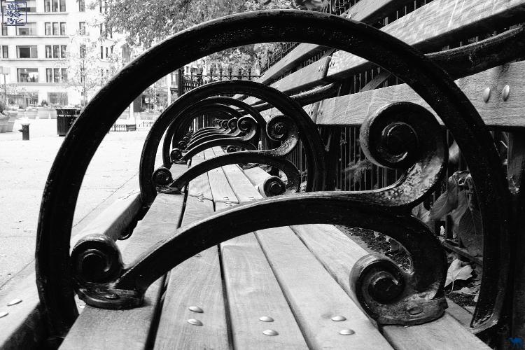 Le Chameau Bleu - Banc de Madisson Square Park New York Manhattan