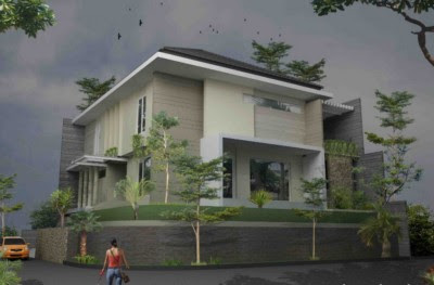 denah rumah minimalis modern 2 lantai hook