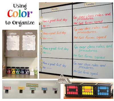 Organize and color code with the rainbow.