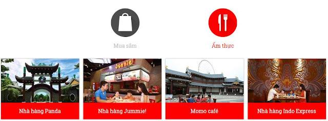 Công viên Châu Á - Khu ẩm thực/ mua sắm/ tiện ích (Chudu43.com)