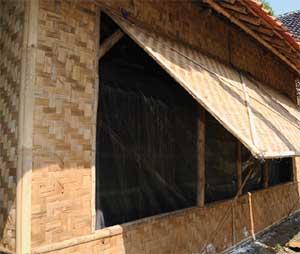 kumbung budi daya jamur merang