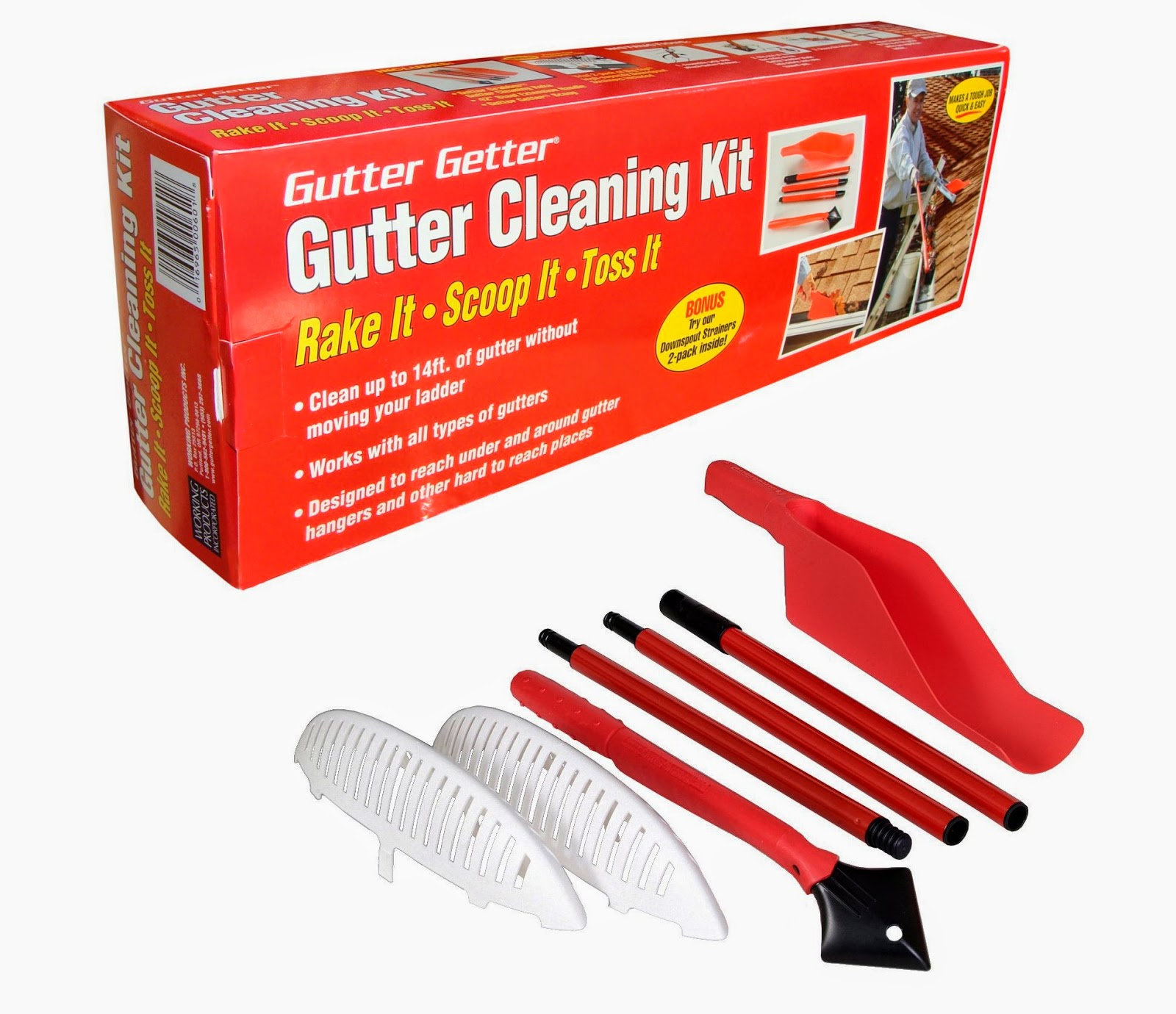 Gutter Cleaning Tools | Gutter Cleaning Kit - Gutter Getter