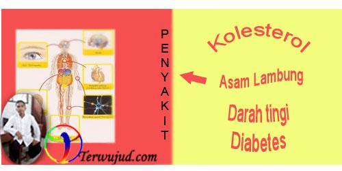Diabetes,stroke,asamlambung,hipertensi