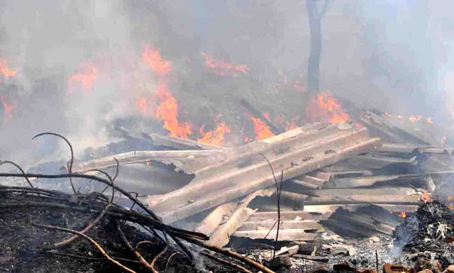 The fierce fire that took place in the warehouse in Junkyard in Faridabad