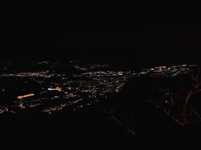 Erice nocą, Erice, panorama Trapani