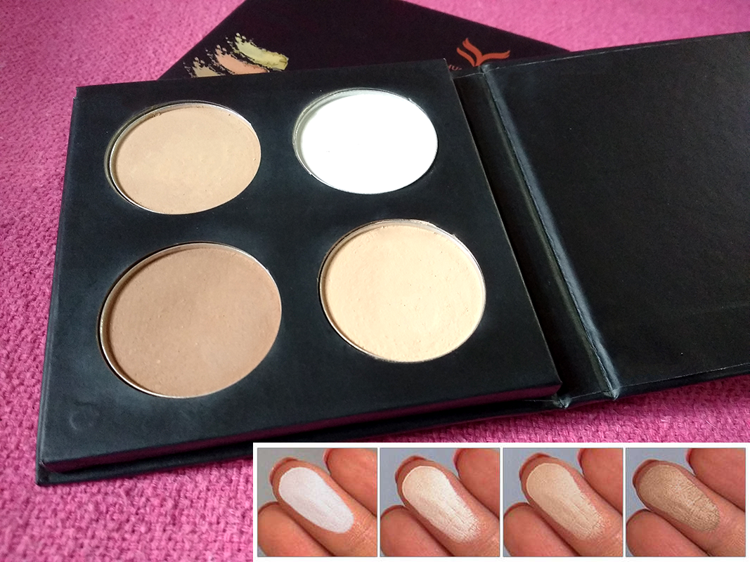 4 Colors Contour Shading Pressed Powder Highlighter Makeup Palette Cosmetic Kit