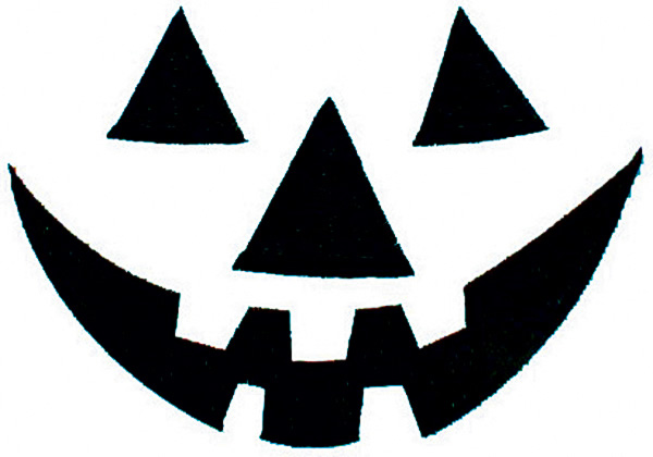 Free Printable easy funny jack o lantern face stencils patterns