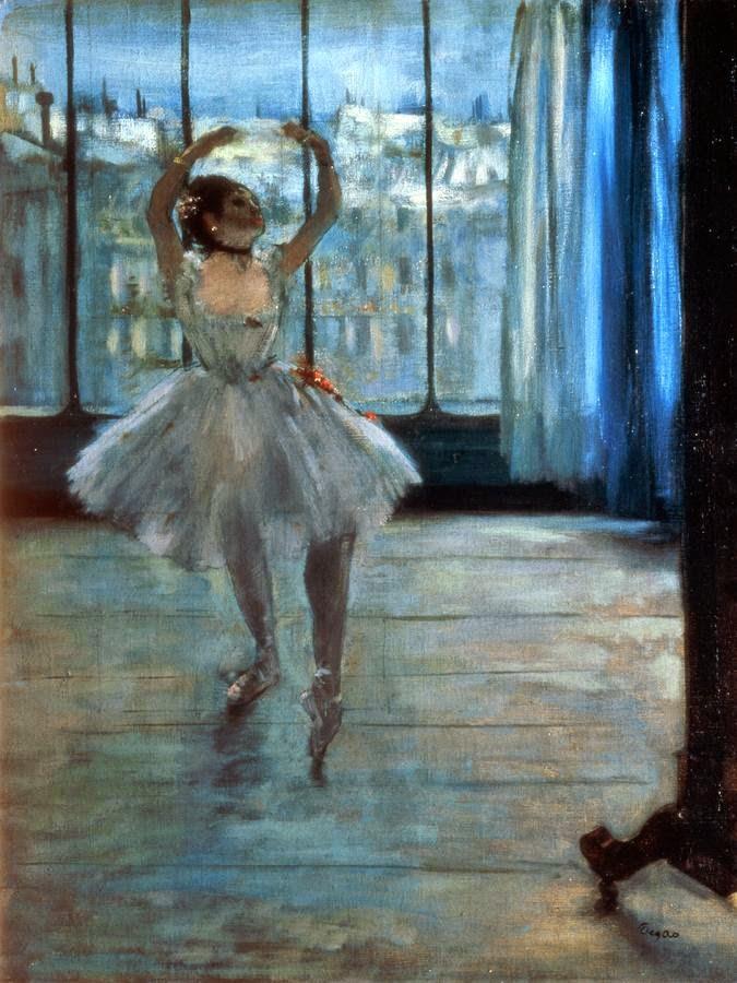 Dançarina em Frente à Janela - Edgar Degas e suas principais pinturas ~ O Pintor de Bailarinas