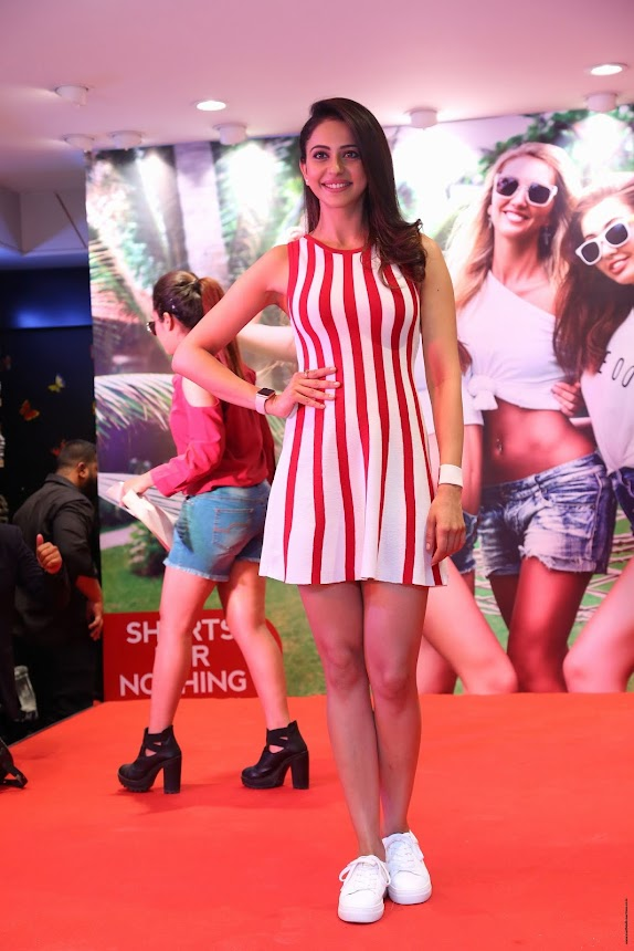 Rakul Preet Singh at Central's 'Strip to Shorts' Campaign Launch