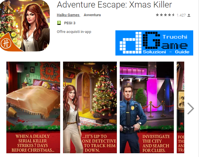 Soluzioni Adventure Escape Xmas Killer di tutti i livelli | Walkthrough guide