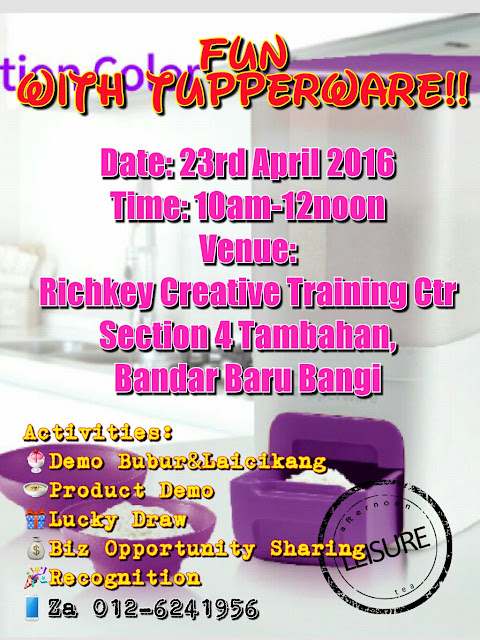 Tupperware Party April 2016 Bangi