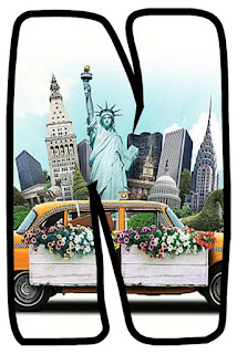 New York City Letter. Abecedario de Nueva York.