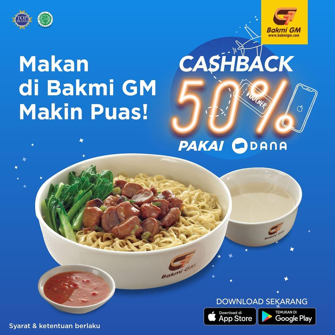 #BakmiGM - #Promo Cashback 50% Makan Puas Pakai Dana (s.d 31 Maret 2019)