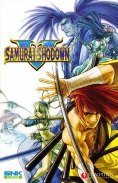 Samurai shdown 5+arcade+game+fighter+portable+art+flyer