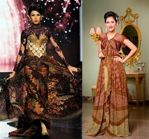 gaun batik pengantin