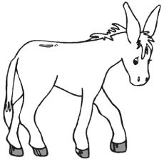Printable Donkey Coloring Pages For Print Online
