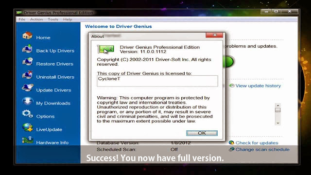 Driver Genius Professional 12.0.0.1332 Full + Crack + Key Multilanguage
