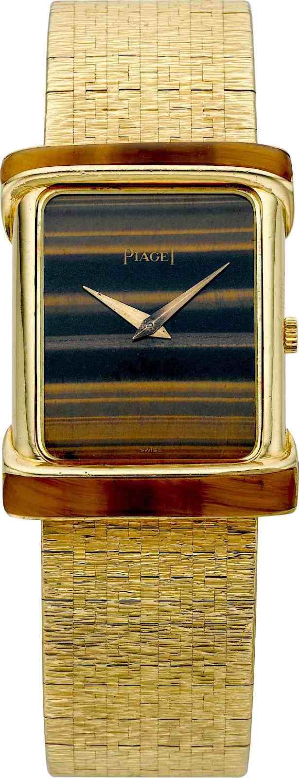 a 1980 Piaget watch, color photograph