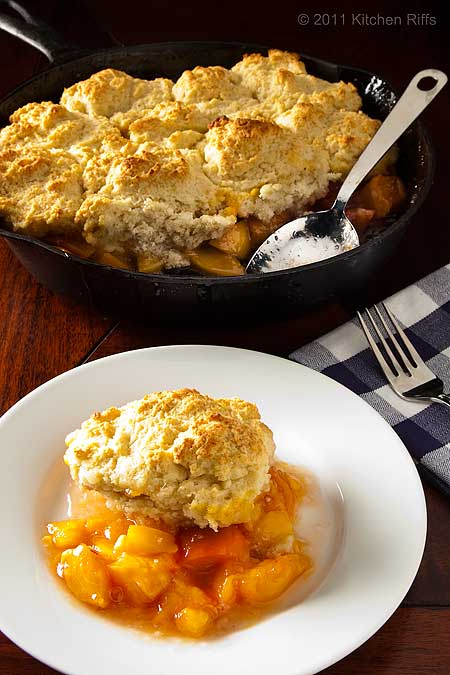 Peach CObbler with Drop Biscuits