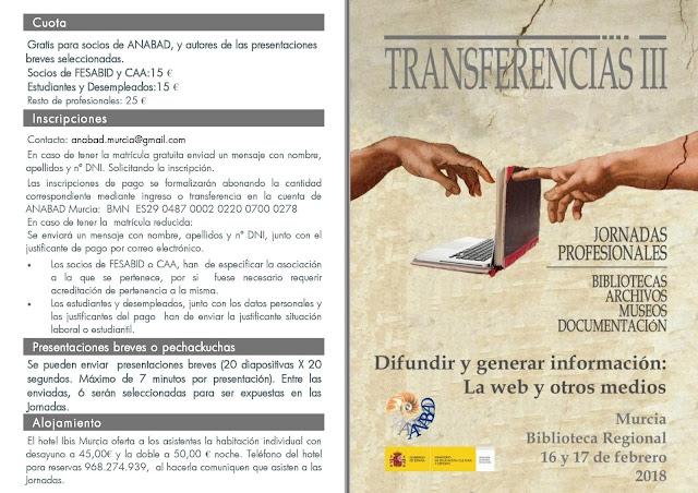 """Jornadas Profesionales: """"Transferencias III"""""""