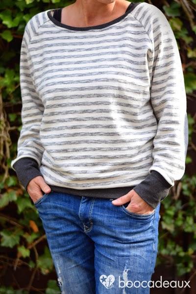 boocadeaux: Alice FledermausRaglanSweater aus Vintage Sweat