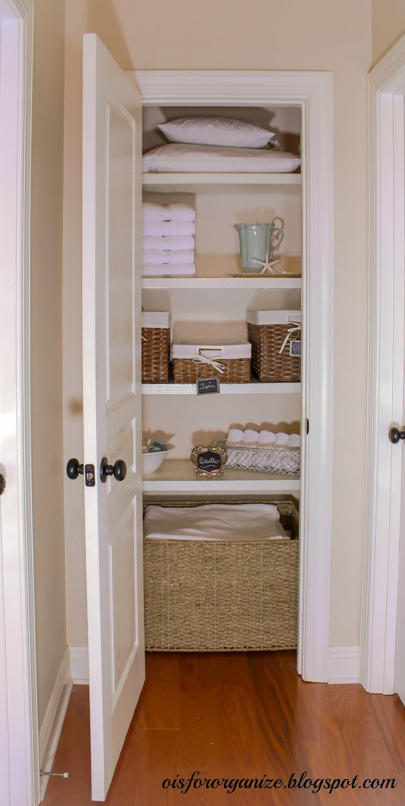 bathroom closet shelving ideas o is for organize linen closet reveal 15813
