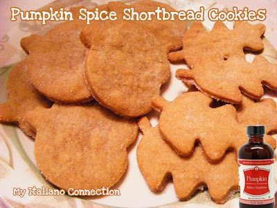 Pumpkin Spice Emulsion in Shortbread Cookies