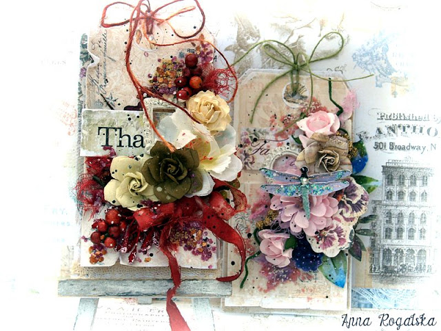 Shabby chic mixed media tags by Anna Rogalska