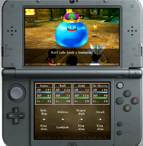 Dragon Quest VII Fragments of the Forgotten Past 3DS king slime