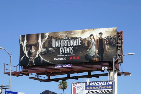 Unfortunate Events season 2 billboard