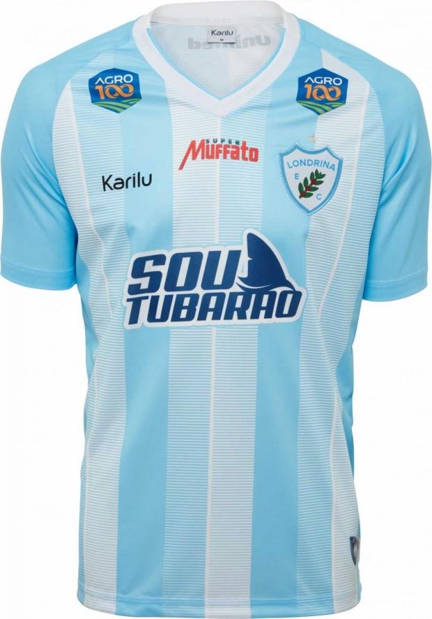 67c9d7f88 Karilu divulga as novas camisas do Londrina. A fabricante de material  esportivo ...